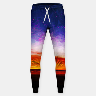 idyllic sunset starry sky digital oil painting akvop std Sweatpants thumbnail image