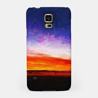 idyllic sunset starry sky digital oil painting akvop std Samsung Case thumbnail image