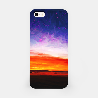 idyllic sunset starry sky digital oil painting akvop std iPhone Case thumbnail image