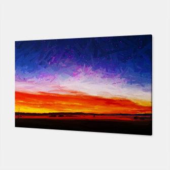 idyllic sunset starry sky digital oil painting akvop std Canvas thumbnail image