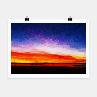idyllic sunset starry sky digital oil painting akvop std Poster thumbnail image