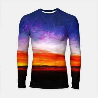 idyllic sunset starry sky digital oil painting akvop std Longsleeve rashguard  thumbnail image