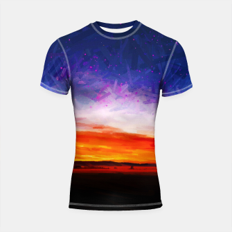 idyllic sunset starry sky digital oil painting akvop std Shortsleeve rashguard thumbnail image