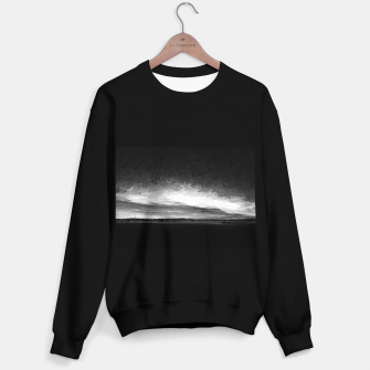 idyllic sunset starry sky digital oil painting akvop bw Sweater regular thumbnail image