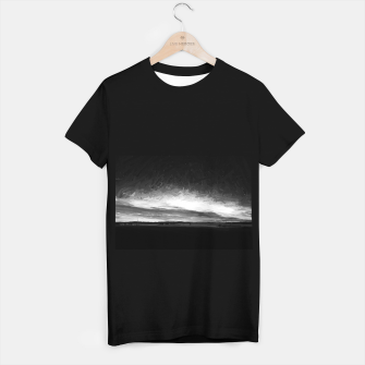 idyllic sunset starry sky digital oil painting akvop bw T-shirt regular thumbnail image