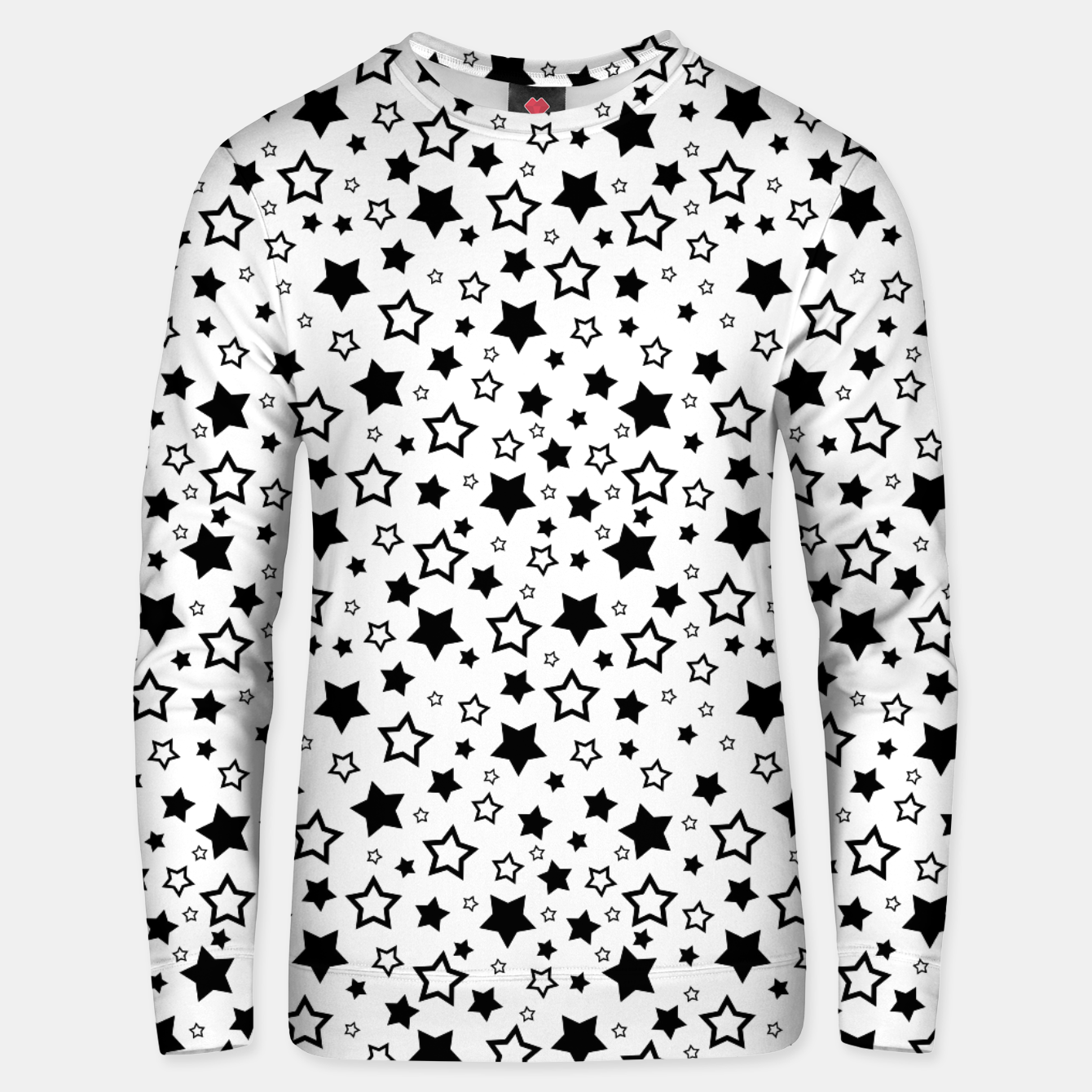 Image of Star Pattern Unisex sweatshirt - Live Heroes