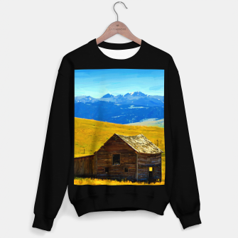 old wooden barn landscape digital oil painting akvop std Sweater regular thumbnail image