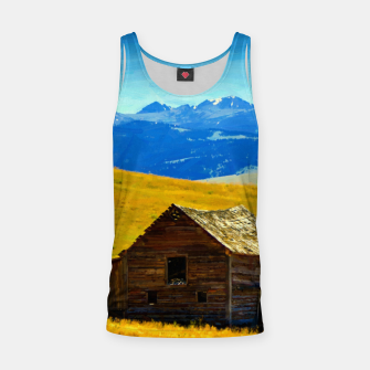 old wooden barn landscape digital oil painting akvop std Tank Top thumbnail image