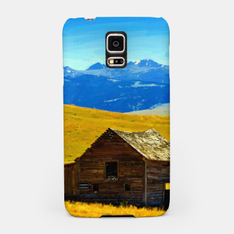 old wooden barn landscape digital oil painting akvop std Samsung Case thumbnail image