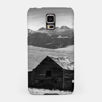old wooden barn landscape digital oil painting akvop bw Samsung Case thumbnail image