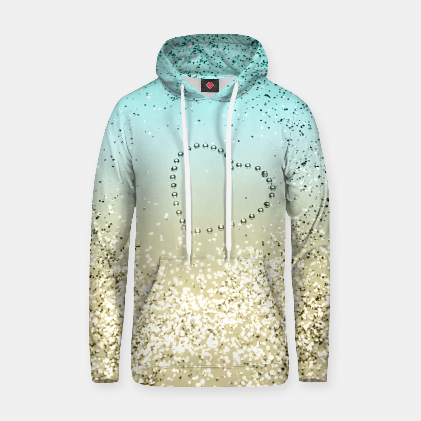 Image of Sparkling Lemon Twist Beach Glitter Heart #2 #shiny #decor #art  Kapuzenpullover - Live Heroes