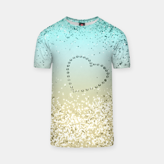 Sparkling Lemon Twist Beach Glitter Heart #2 #shiny #decor #art  T-Shirt thumbnail image