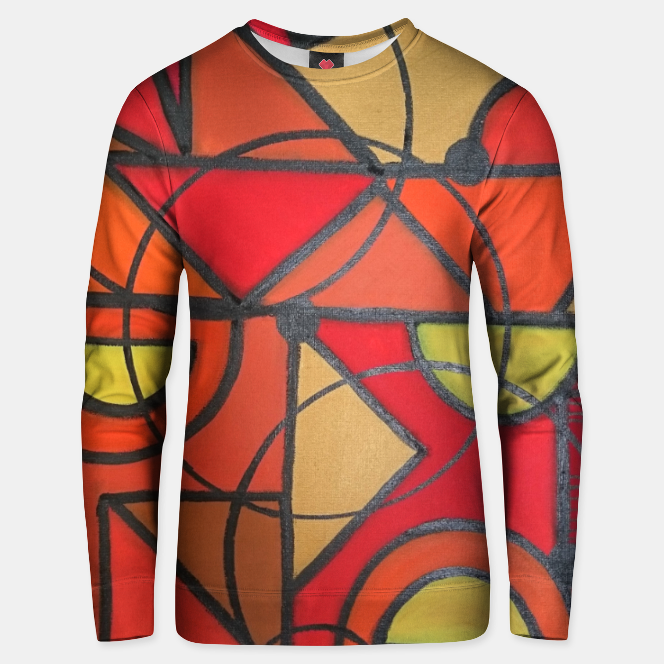 Image of geometric1 Unisex sweater - Live Heroes