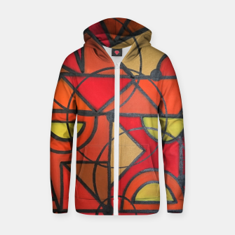 geometric1 Zip up hoodie thumbnail image