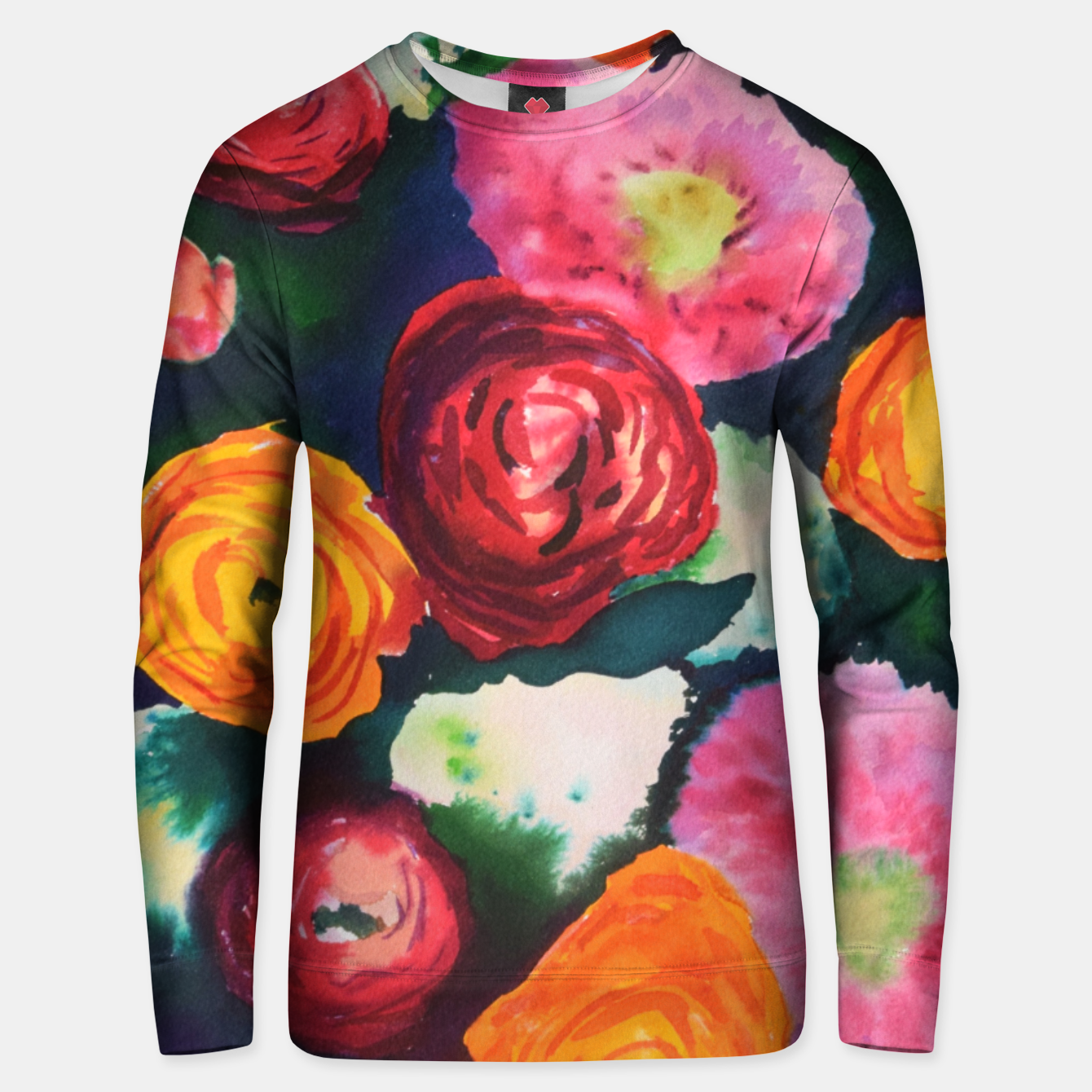 Image of Florals in deep colors Unisex sweater - Live Heroes
