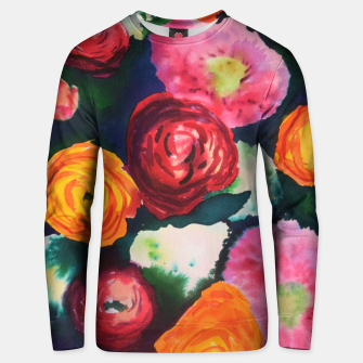 Thumbnail image of Florals in deep colors Unisex sweater, Live Heroes