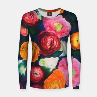 Florals in deep colors Women sweater thumbnail image