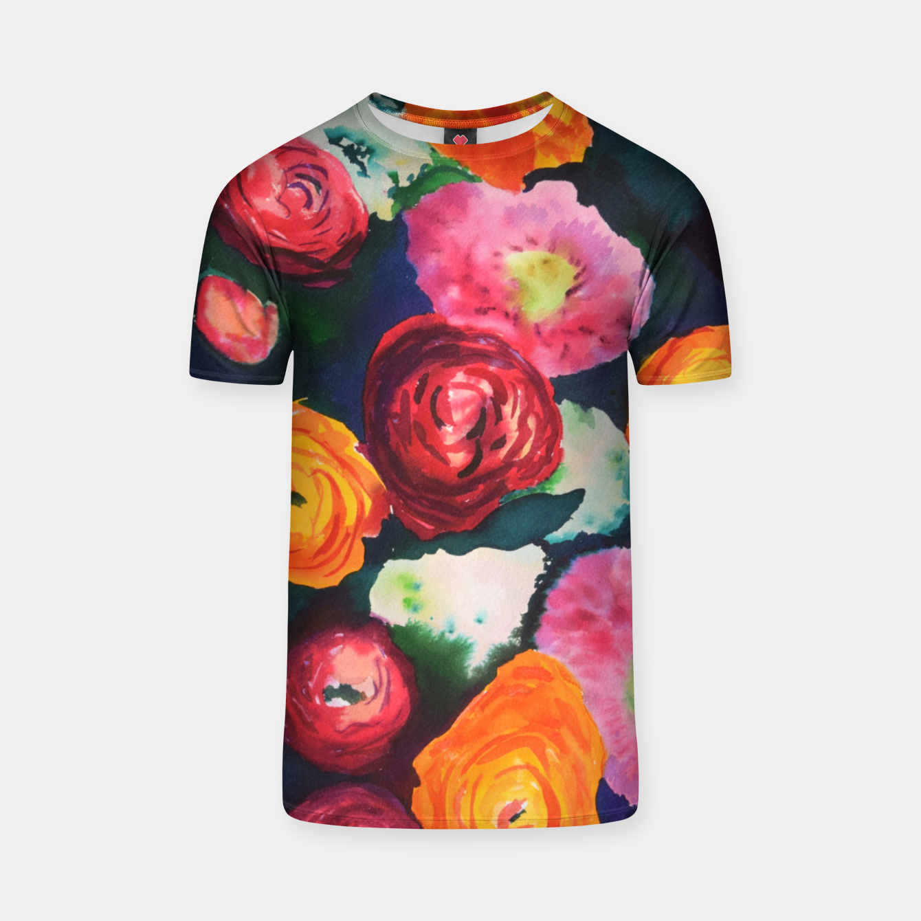 Image of Florals in deep colors T-shirt - Live Heroes