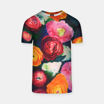 Thumbnail image of Florals in deep colors T-shirt, Live Heroes
