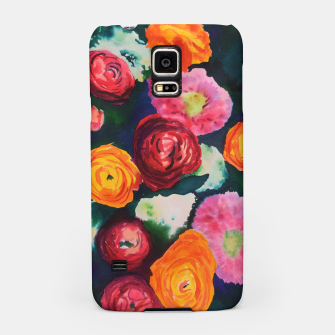Florals in deep colors Samsung Case thumbnail image