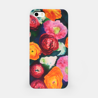 Florals in deep colors iPhone Case thumbnail image