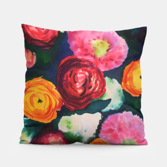 Florals in deep colors Pillow thumbnail image