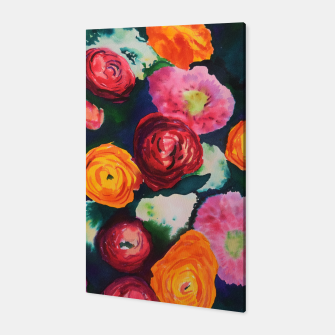 Florals in deep colors Canvas thumbnail image