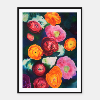 Florals in deep colors Framed poster thumbnail image