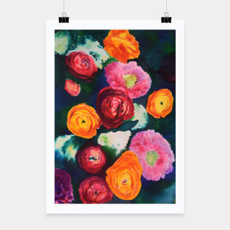 Thumbnail image of Florals in deep colors Poster, Live Heroes
