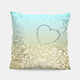 Sparkling Lemon Twist Beach Glitter Heart #2 #shiny #decor #art  Kissen thumbnail image