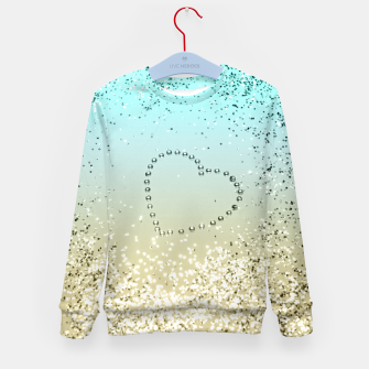 Sparkling Lemon Twist Beach Glitter Heart #2 #shiny #decor #art  Kindersweatshirt thumbnail image