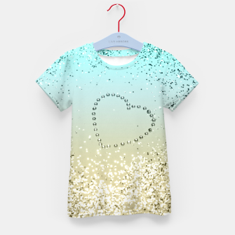 Sparkling Lemon Twist Beach Glitter Heart #2 #shiny #decor #art  T-Shirt für kinder thumbnail image