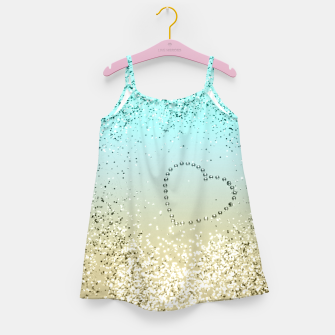 Miniaturka Sparkling Lemon Twist Beach Glitter Heart #2 #shiny #decor #art  Mädchenkleid, Live Heroes