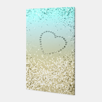 Sparkling Lemon Twist Beach Glitter Heart #2 #shiny #decor #art  Canvas thumbnail image