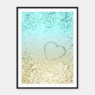 Sparkling Lemon Twist Beach Glitter Heart #2 #shiny #decor #art  Plakat mit rahmen thumbnail image
