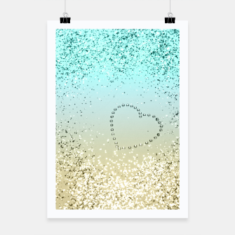 Miniaturka Sparkling Lemon Twist Beach Glitter Heart #2 #shiny #decor #art  Plakat, Live Heroes