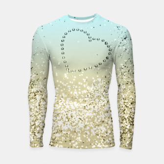 Sparkling Lemon Twist Beach Glitter Heart #2 #shiny #decor #art  Longsleeve rashguard thumbnail image
