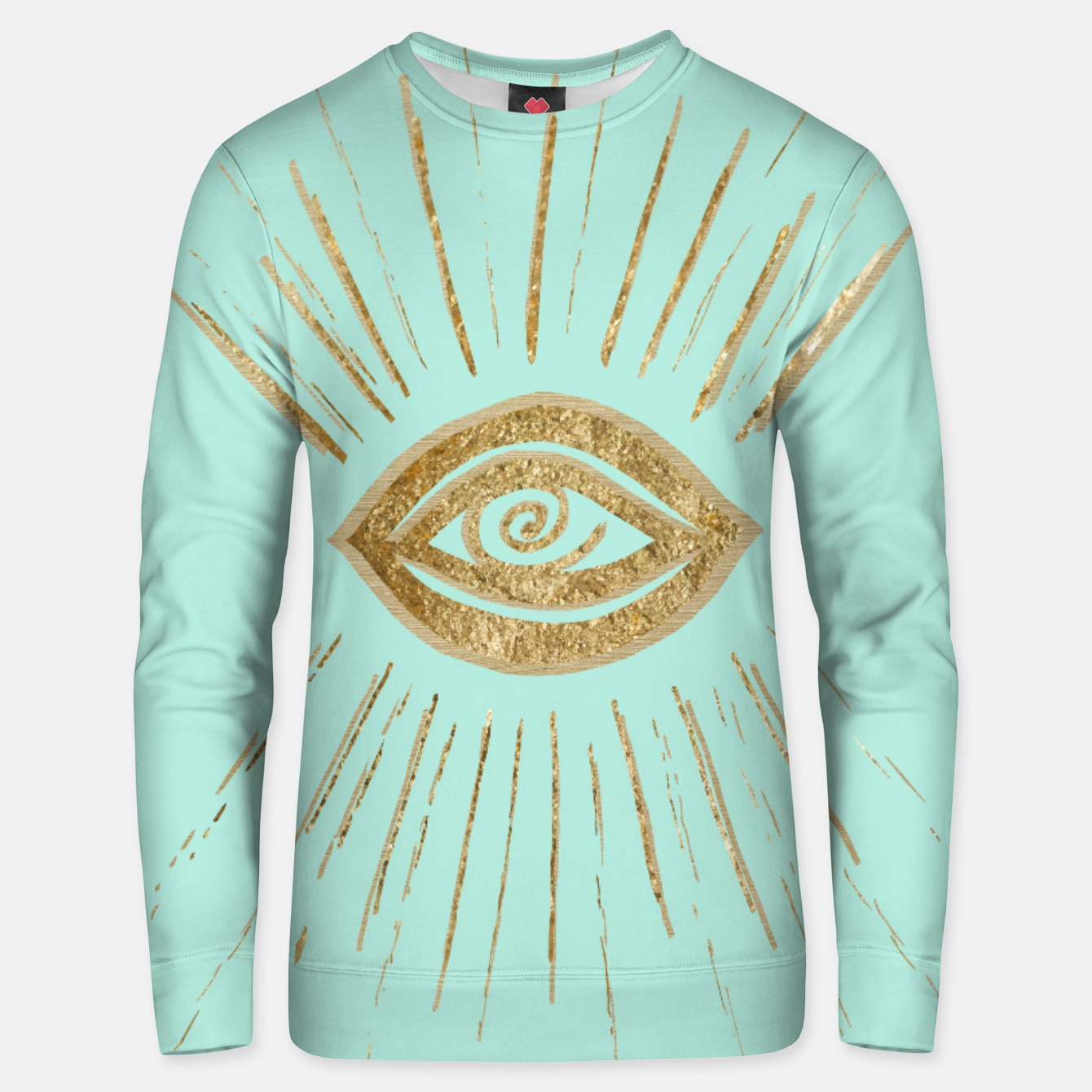 Image of Evil Eye Gold on Mint #1 #drawing #decor #art  Unisex sweatshirt - Live Heroes