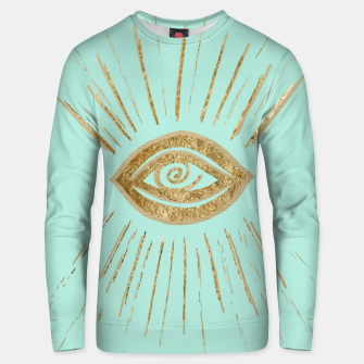 Evil Eye Gold on Mint #1 #drawing #decor #art  Unisex sweatshirt thumbnail image
