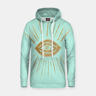 Evil Eye Gold on Mint #1 #drawing #decor #art  Kapuzenpullover thumbnail image