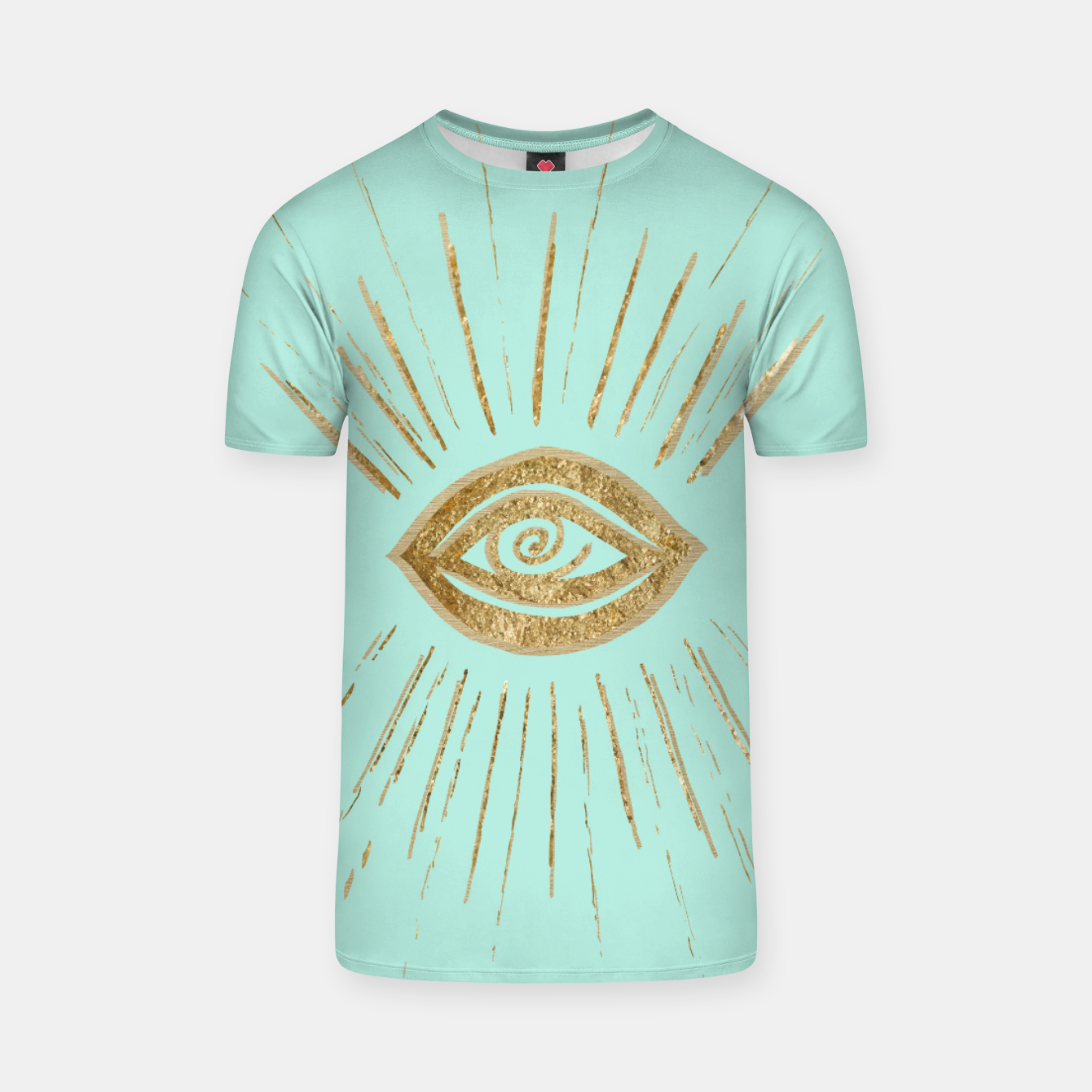 Image of Evil Eye Gold on Mint #1 #drawing #decor #art  T-Shirt - Live Heroes
