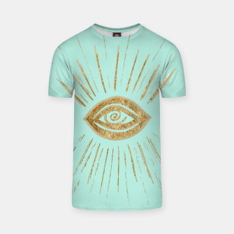 Evil Eye Gold on Mint #1 #drawing #decor #art  T-Shirt thumbnail image