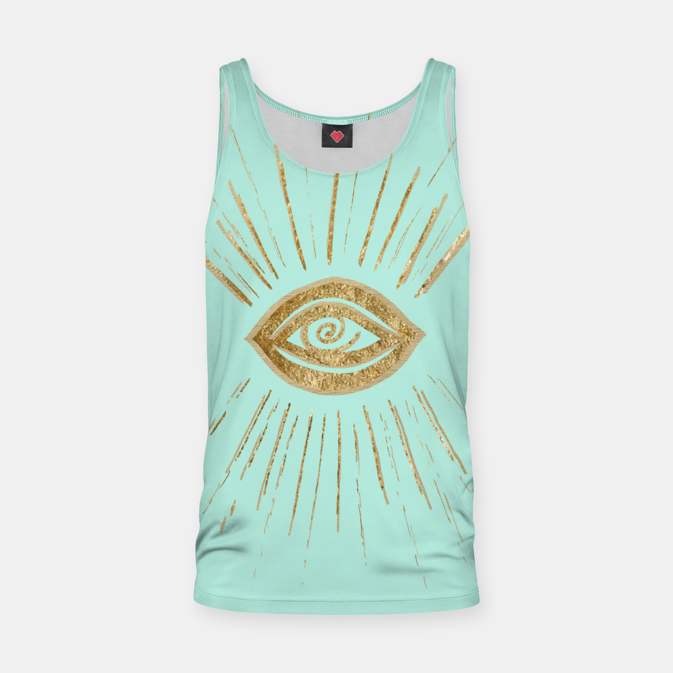 Image of Evil Eye Gold on Mint #1 #drawing #decor #art  Muskelshirt  - Live Heroes