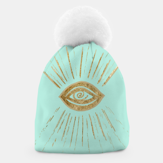 Evil Eye Gold on Mint #1 #drawing #decor #art  Mütze thumbnail image