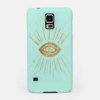 Evil Eye Gold on Mint #1 #drawing #decor #art  Handyhülle für Samsung thumbnail image