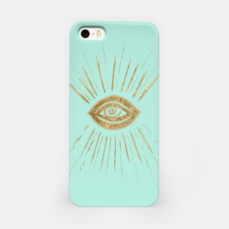 Evil Eye Gold on Mint #1 #drawing #decor #art  iPhone-Hülle thumbnail image