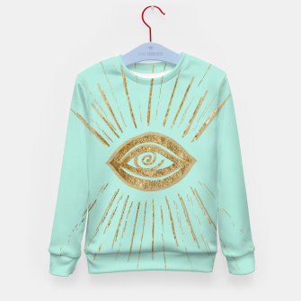 Evil Eye Gold on Mint #1 #drawing #decor #art  Kindersweatshirt thumbnail image
