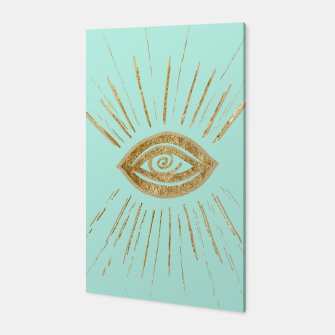 Evil Eye Gold on Mint #1 #drawing #decor #art  Canvas thumbnail image