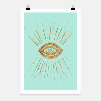 Evil Eye Gold on Mint #1 #drawing #decor #art  Plakat thumbnail image