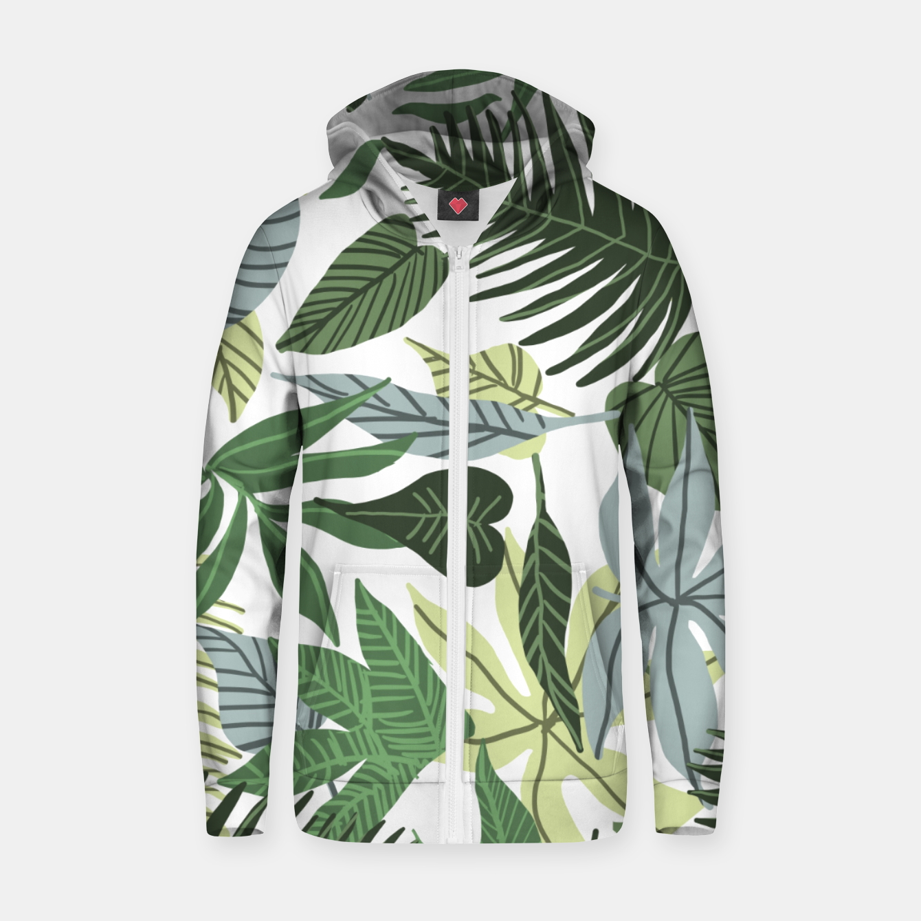 Image of In The Jungle Zip up hoodie - Live Heroes